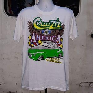 Vintage Hot Rod car T shirt size medium